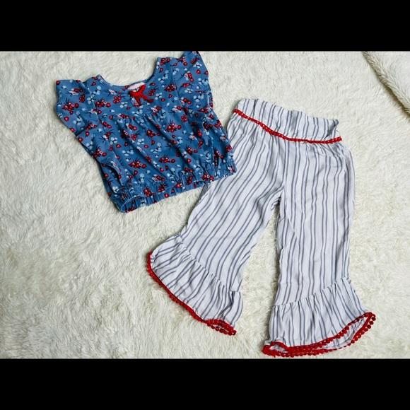 Little Lass 2 piece outfit, Sz 5, EUC